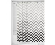 InterDesign Ombre Chevron - Cortina de ducha, gris multicolor