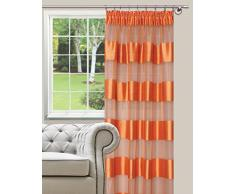 Splendid FLORENCE - Cortina de confección con abrazaderas (140 x 285 cm), color naranja