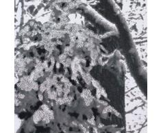 Just Contempo – Juego de funda nórdica de árbol de invierno, doble, Gris, algodón poliéster, Gris, matrimonio