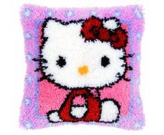 Vervaco - Kit para cojín de ganchillo de alfombra, diseño de Hello Kitty, multicolor