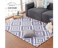 Summerhome - Alfombra grande para dormitorio de niños, tapete para área de juegos, salón o habitación, lavable, blanco/negro diseño de rombos, N, 110CM×180CM