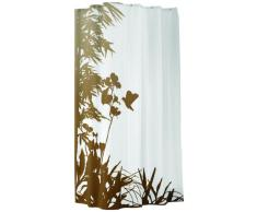 Sealskin Cortina de Ducha Jungle, 180 x 200 cm, Poliéster, Blanco y Beige
