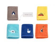 YUMU CASA - Juego de toallas de algodón suave absorbente para manos y rostro para bebés y niños, toalla de cocina, baberos de bebé, toalla de sudor para niños (50 x 25 cm)