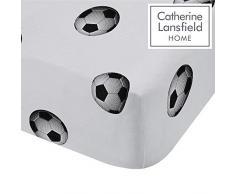 Catherine Lansfield fútbol Ricos único sábana Bajera, Polyester-Cotton, Multi, 190 x 90 x 0,4 cm