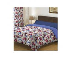 Sabanalia - Juego Funda Nórdica Reversible Flags (Disponible en varios tamaños) - Cama 105, Azul