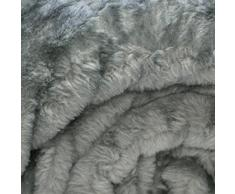 Just Contempo - Manta de piel sintética, morado, 150 x 200 cm, sintético, Gris, 150 x 200 cm