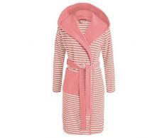 Esprit Albornoz Striped Dusty Rosa con capucha rayas, mezcla de algodón, rosa, large