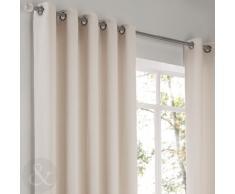 Just Contempo - Cortinas con corchetes y forro (2 unidades), diseño de espiga, poliéster, crema, par de cortinas 1,86 x 2,29 m ( crema )