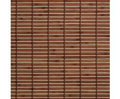 Madera con estor enrollable, madera enrollable para ventanas y puertas braun B L 90 cm x 220 cm