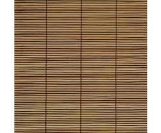 Persiana de bambú para ventana con tracción lateral - 60cm x 160cm, árbol de cereza