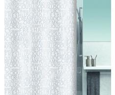 Spirella colección Creamy, Cortina de Ducha Textil 180 x 200, 100% Polyester, Gris
