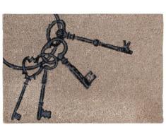 ESSCHERT DESIGN - Felpudo (fibra de coco), diseño de llaves