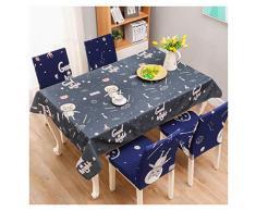 GUOCU Mantel Impermeable Antimanchas Algodón Lino Rectangular Decorativo Mantel de Mesa para Cocina Comedor Fiesta Mantel Silla Juego de Tela Gato Cuatro Fundas para sillas