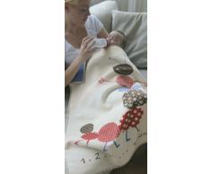 David Fussenegger 6550/60 - Manta para bebé con diseño de oruga (100 x 75 cm, 100% algodón orgánico)