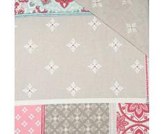 Just Contempo Patchwork Marroquí – Juego con funda nórdica y fundas de almohada, Rosa, tamaño: King Size