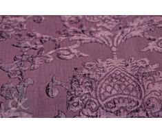 Just Contempo – Cortinas Plisadas Damasco de Terciopelo, Color Morado, Color Morado, Damson Purple, 66 x 72 Inches