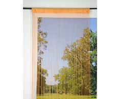 Lovely Casa R56487004 FIL - Cortina de hilos 140X240 100% PE 100% Coton, Naranja