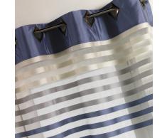 Homemaison HM690889175 - Cortina de Organza, diseño a Rayas, Color Azul