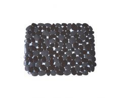 MSV Alfombra DE PVC para Fregadero-Chocolate, 40x31x0.5 cm