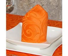 """Lujo Naranja – Mantel anti manchas Tratamiento – Tamaños Tamaño Grande Ref. Lyon, Naranja, 6 NAPKINS 18 x 18"""" (45 x 45cm)"""