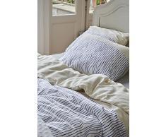 Esprit satén ropa de cama linar I color Blue Azul I 2 rayas I de puro algodón I cremallera, 200 x 200+2 x 80 x 80