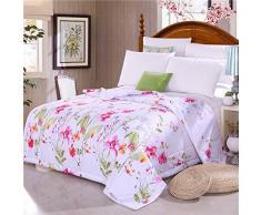 Ybed-summer Edredón colcha verano fina para uso con aire acondicionado Juego de ropa de cama, 150*200 cm-10