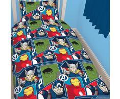Marvel Vengadores Tech diseño de impresión de repetición de – Juego de funda de edredón y funda