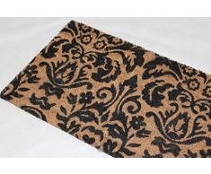 Homescapes - Felpudo (45 x 75 cm, 100% fibra de coco, para interiores y exteriores), diseño de patas de perro o gato con texto en inglés