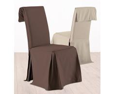 Funda para silla ajustable en altura - 100% algodón - Color MARRÓN CHOCOLATE