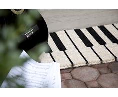 Entryways - Felpudo (45 x 75 cm, fibra de coco), diseño de piano