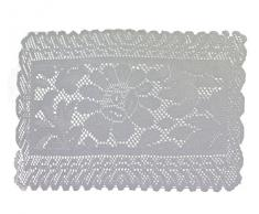 Tapete de ganchillo rectangular de 30 x 44 cm