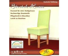 Funda para silla refinada elástica de algodón - blanco