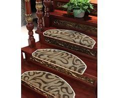 Escaleras auto - adhesivas de auto - absorción Tapetes llenos de escaleras de madera maciza Tapa antideslizante Pad de paso ( Color : B , Tamaño : 75*24cm )
