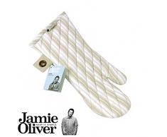 Jamie Oliver - Guante de cocina - arena y blanco rayas de sarga manopla para horno