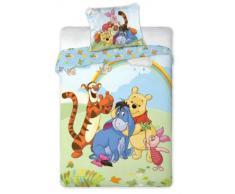 Disney - Juego de cama infantil (funda nórdica de 160 x 200 cm y funda de almohada de 70 x 80 cm), diseño de Winnie the Pooh