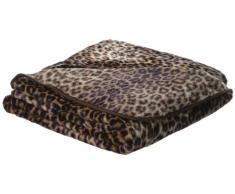 Cashmere-Feeling Gözze 40087-72-5020 Leopard - Manta (lavable, microfibra, certificado conforme a la norma OEKO-TEX Standard 100, 150 x 200 cm), diseño de estampado de leopardo