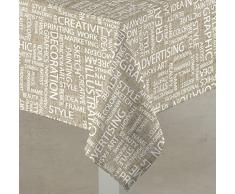 Sabanalia - Mantel de tela antimanchas Arte (disponible en varias medidas) - 140 x 140