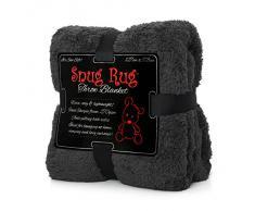 Gift House International GH-SRT2 Snug Rug Special Edition Luxury - Manta de lana, color gris
