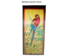 Bambú Parrot escena de bambú cortina de cuentas