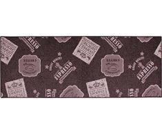 ID MAT 6718010 Alfombra de cocina, grande, fibra poliamida/látex 180 x 67 x 0,4 cm, marrón, 67 x 180 cm