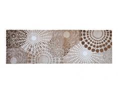 Alfombrilla LifeStyle 100901 Puntos, alfombra antideslizante y lavable, ideal para el armario, la cocina o el dormitorio, 50 x 150 cm, beis / blanco