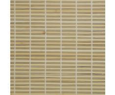 Liedeco – Persiana veneciana de madera para ventana y puerta, madera, natural, 90 cm x 220 cm (B x L)