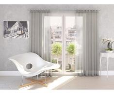 Splendid DIANA - Cortina de confección con trabillas ocultas (140 x 245 cm), color gris