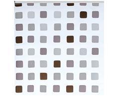 Kleine Wolke 3321110747 Cortina de ducha enrollable para cassette vacío de Kleine Wolke (128 x 240 cm), diseño de cuadrados, color gris