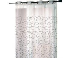 Homemaison HM69885410031 - Persiana enrollable y estor, 100% poliéster de 140 x 240 cm, color negro y blanco