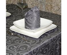 """Lujo color gris oscuro mantel - Anti Manchas Tratamiento - grande - REF. Lyon, Gris, 59 x 118"""" (150 x 300cm)"""