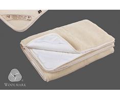 Manta / Sábana de Lana Merina Básica 450gsm, 200/200cm Certificada por Woolmark. Muy suave y confortable.Colchón Eliocel Lana Merino