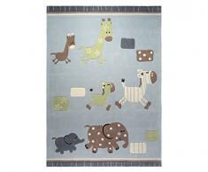 ESPRIT alfombra, poliacrílico, azul, 120*180cm