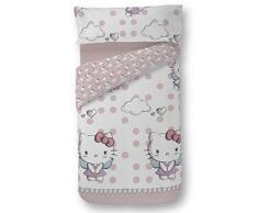 Hello Kitty 35389 - Dúo funda nórdica para cama de 90 cm, diseño Angels, color rosa