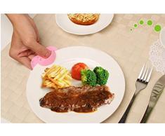 Conjunto de 2 suministros de cocina de silicona calor Clip Prueba / guantes del mitón del horno, rosa